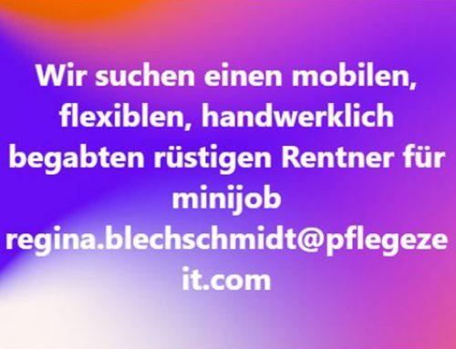 Rüstiger Rentner auf Minijob-Basis gesucht in Mainz!